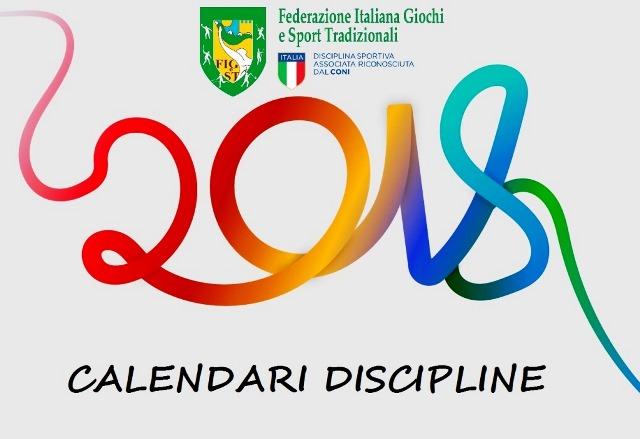 Nazionale Calendario.Calendario Nazionale 2018