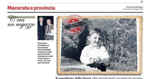 C'era un ragazzo…..il Presidente Enzo Casadidio