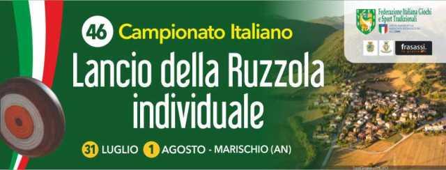 XLVI CAMPIONATO ITALIANO RUZZOLA INDIVIDUALE