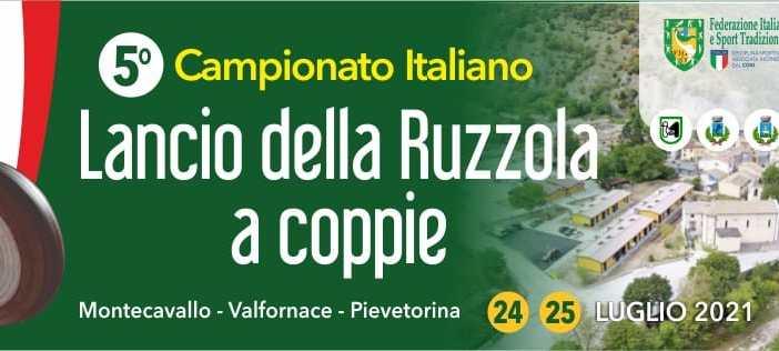 5° CAMPIONATO ITALIANO  RUZZOLA A COPPIE 2021 MONTE CAVALLO (MC)