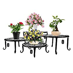 a photo of metal plant stands
