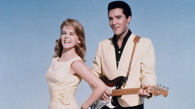 "Elvis Presley and actress Ann-Margret shown in an MGM Studios-supplied  publicity photo for the 1964 film, ""Viva Las Vegas."""