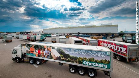 More than half of Shoprite's delivery trucks are fitted with solar panels to aid refrigeration.