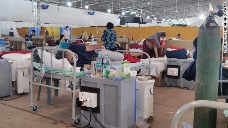 Inside the Sardar Patel Covid Care Centre.