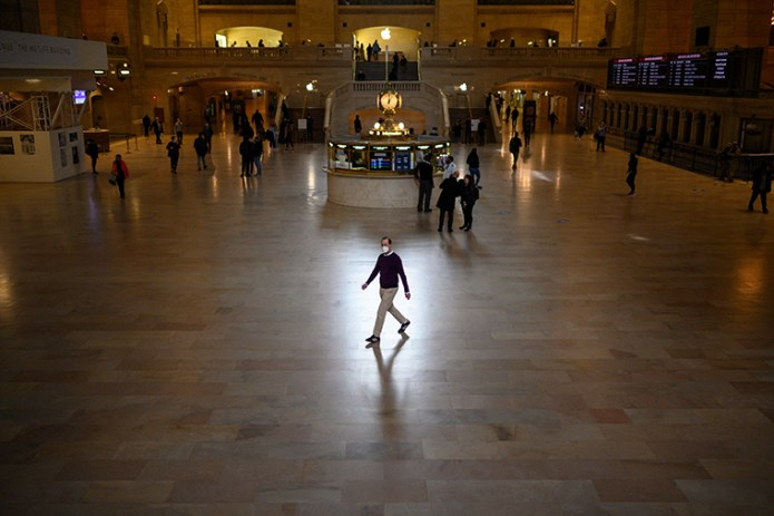 Grand Central station in Manhattan, New York on April 27, 2021.