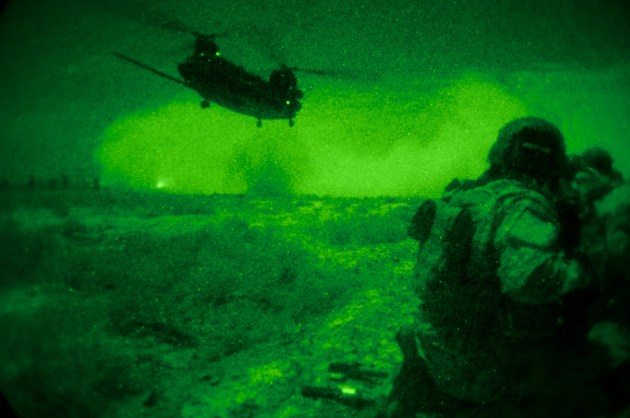 Coalition forces conduct a raid against  known al-Qaeda in Iraq operatives near Mahmudiyah, December 15, 2008.  (Dept. of Defense photo by U.S. Air Force Staff Sgt. Joshua DeMotts) (Not Released)