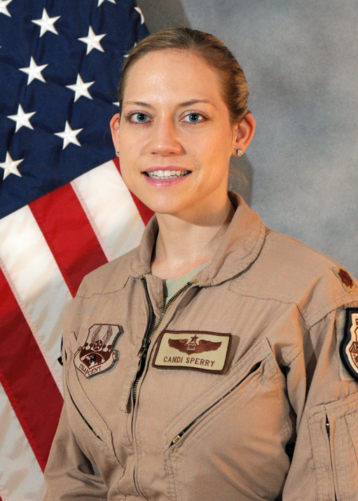"Major Candice ""STICKI"" Sperry, top Weapons Officer in the USAF"