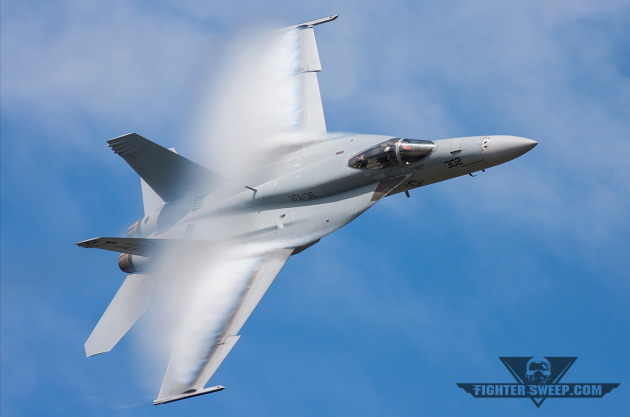 "An F/A-18E from VFA-136 ""Knighthawks"" in action at NAS Oceana. The squadron is slated to move to NAS Lemoore by 2017"