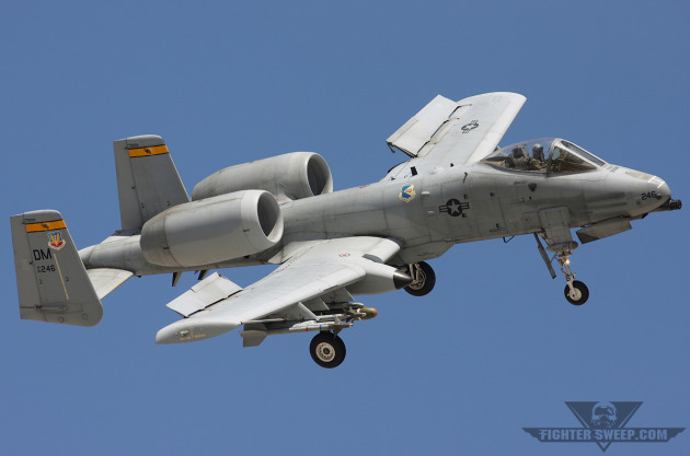 A Fairchild Republic A-10C Thunderbolt II returns to Davis Monthan Air Force Base, Arizona. (Photo by Jonathan Derden)
