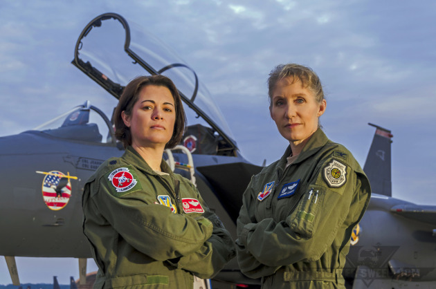 "Lieutenant Colonel Nicole ""FIFI"" Malachowski and Colonel Jeannie ""Tally"" Leavitt, both F-15E Strike Eagle pilots with extensive combat experience."