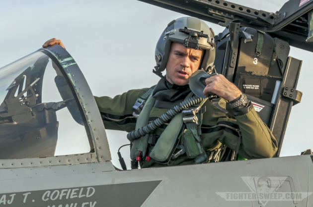 """""""Stitch,"""" an F-15C Eagle pilot with the 142nd Fighter Wing, Oregon Air National Guard."""