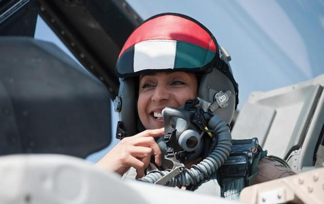 Maj. Mariam Al Mansouri (Credit Emirates News Agency, WAM, via Associated Press)
