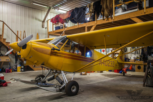 Don Sheldon's Piper Super Cub with retractable skis, still resides at Talkeetna with Sheldon Air Service