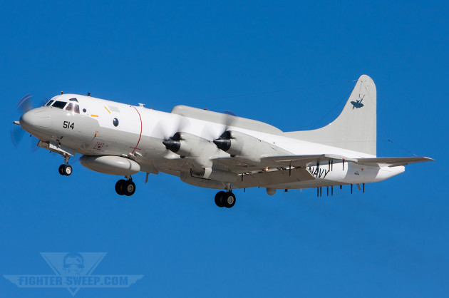 An EP-3E Aries II from VQ-1 lands at NAS North Island