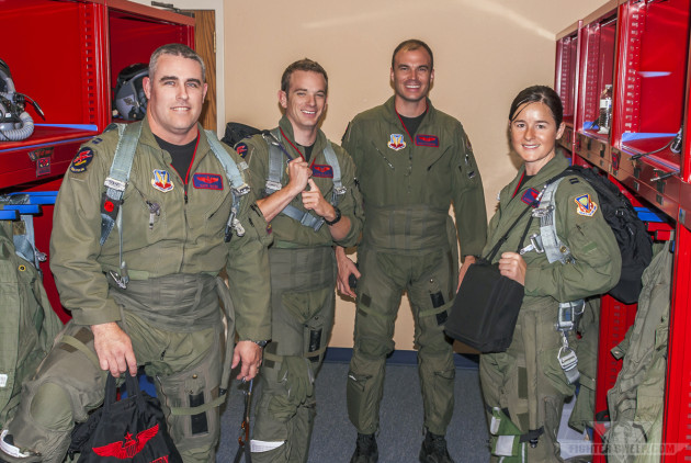 Kong, HOBS, Magnum, and Roxy prepare to step for a DCA VUL at Mountain Home AFB, Idaho.