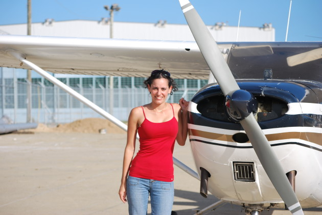 My first flight in a small plane. (Photo Courtesy of the Author)