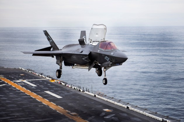 Six Marine Corps F-35Bs Go To Sea