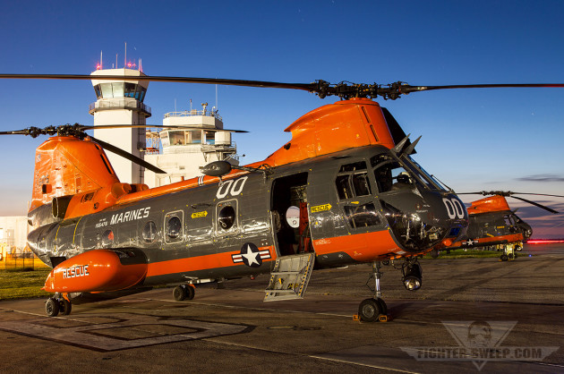 The HH-46Es from VMR-1 at MCAS Cherry Point are the last Sea Knights in the USMC inventory, but even they are slated for retirement soon, much to the dismay of the local community