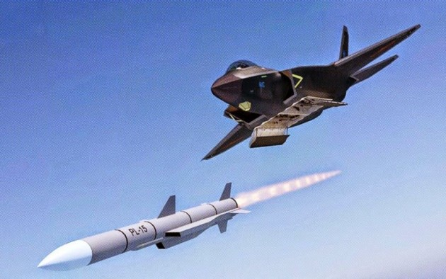Chinese Computer-Generated Image of a J-31 firing a ramjet-powered PL-15 air-to-air missile. (Photo Courtesy of lt.cdjby.net)
