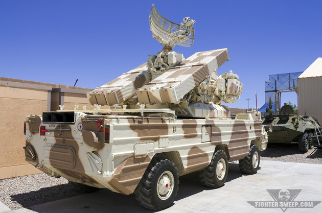 "Another angle of the SA-8 ""Gecko"" Tactical SAM system. (Photo by Scott Wolff)"