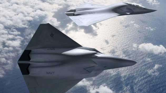 An artist rendering of Boeing's 6th-Generation fighter aircraft concept.