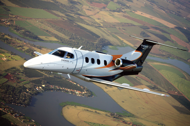 Embraer Phenom 100 jet. (Photo courtesy of Embraer)