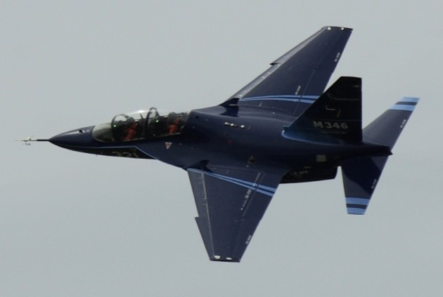 The partnCAE, and Finnmeccanica will offer the T-100 in the USAF's T-X jet trainer contract competition. (photo courtesy of Wikimedia Commons)