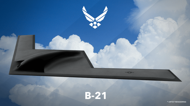 An artist's rendering of the Northrop-Grumman LRS-B, now known as the B-21. (U.S. Air Force graphic)