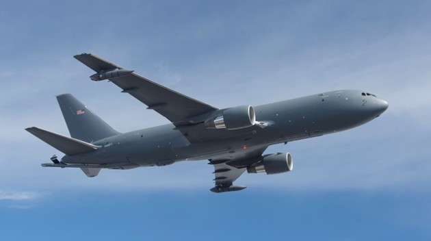 The Boeing KC-46A Pegasus during a test fight. (Photo courtesy of Boeing)