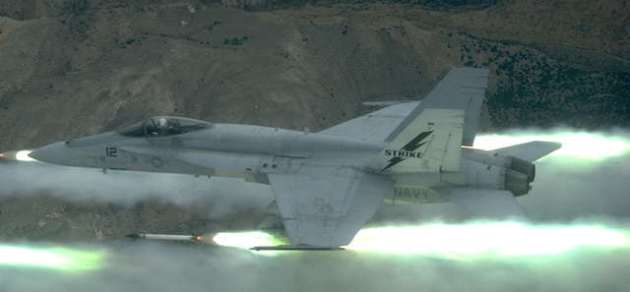 From The Cockpit: Hornets Fire Rockets At Fallon!
