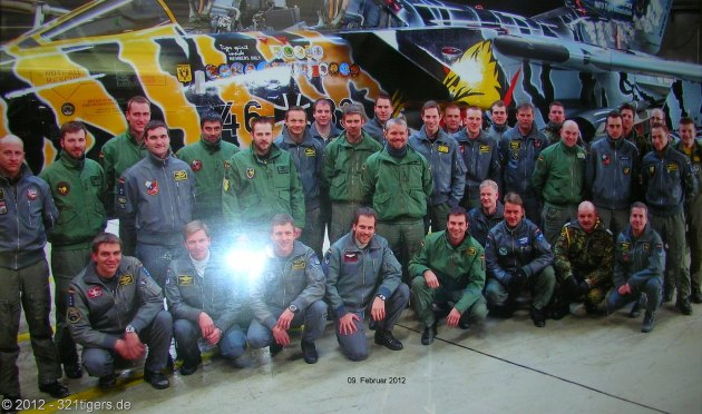 321 Squadron poses for a group photo in early 2012. (Photo courtesy of 321tigers.de)