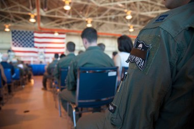Photo from 1Lt Shillington's memorial service. Courtesy of Vance AFB Public Affairs.
