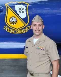 """Navy Lt. Bryan Pace, 32, of Fitzwilliam, New Hampshire, is a Supply Officer currently assigned to Strike Fighter Squadron 101 (VFA-101), the """"Grim Reapers,"""" at Eglin Air Force Base, Florida. He is a 2010 graduate of the University of Massachusetts Amherst, Amherst, Massachusetts."""