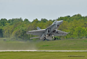 The beginning of the dirty roll on takeoff. Courtesy: Bernie Conaway
