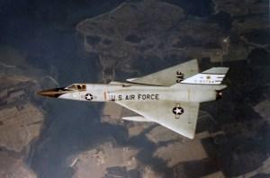 Convair F-106A in flight. (U.S. Air Force photo)