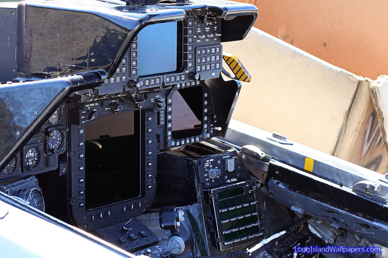 F-14D RIO cockpit with large PTID display