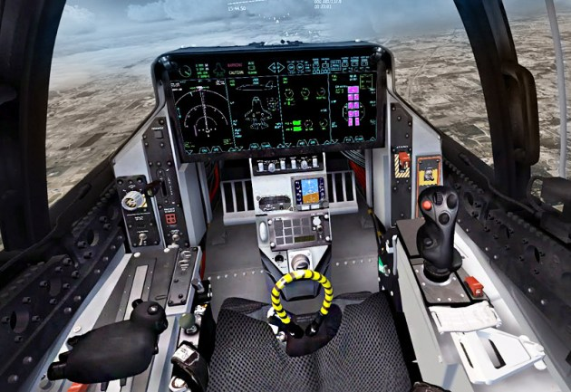The most advanced cockpit ever. Courtesy Driven Technologies