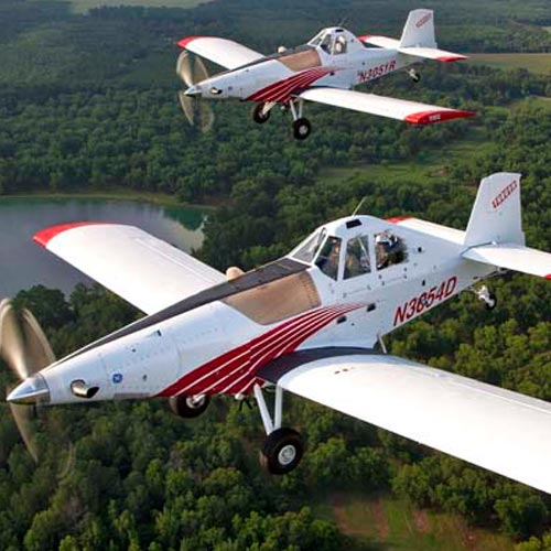 Thrush Aircraft Two-Ship Formation