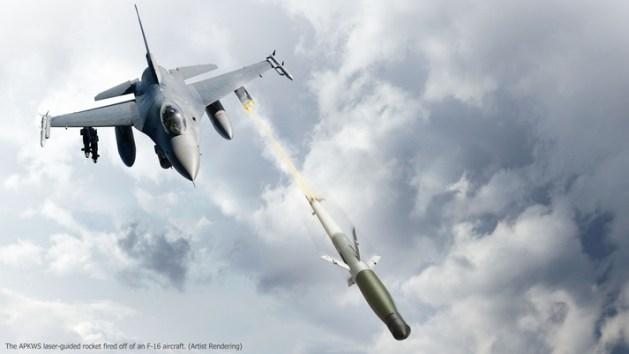 apkws laser guided rocket system f16
