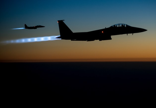 f-15 air strikes on ISIS in iraq