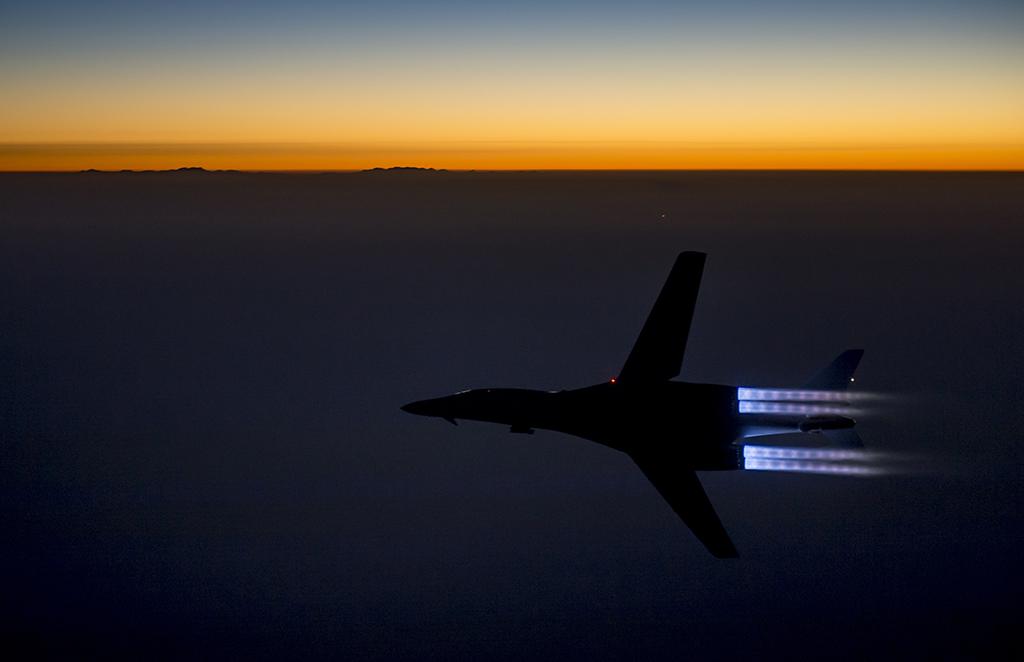 B-1 Air strikes in Syria