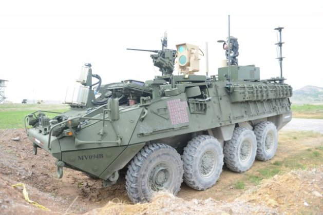 Mobile High-Energy Laser-equipped Stryker-MEHEL