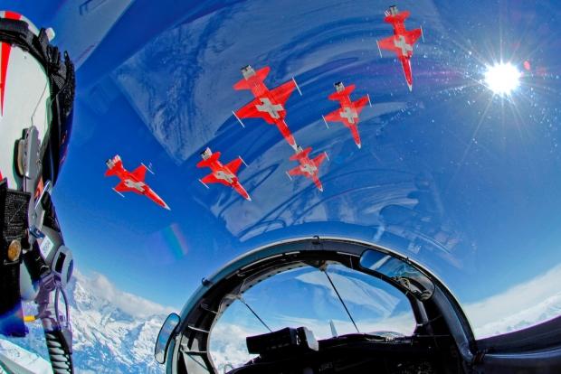 Patrouille Suisse f-5-cockpit