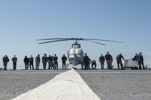 MQ-8C Fire Scout Makes First Flight Off a Combat Ship