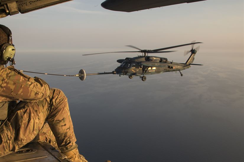 353rd Special Operations Group observes a Japan Air Self-Defense Force UH-60J Black Hawk helicopter