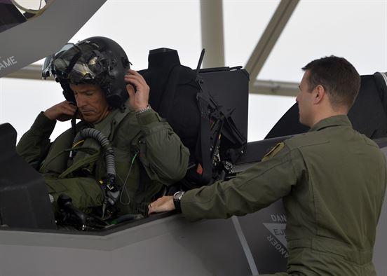 Brig Gen Scott Pleus 56th Fighter Wing commander F-35 sortie flight at Luke Air Force Base
