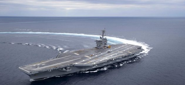 USS Abraham Lincoln CVN 72 Shows Off High Speed Turning