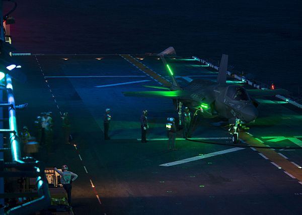 F-35B Refueling on Ship