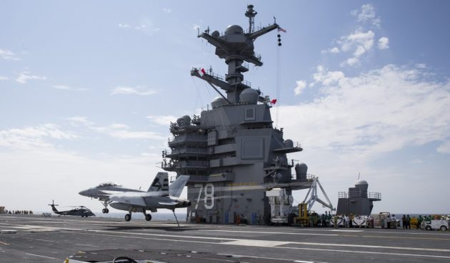 Spectacular Video of the Supercarrier USS Gerald R. Ford cvn-78