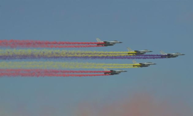 Celebration Flight during the Seoul International Aerospace and Defense Exhibition (ADEX) 2017 Opening Ceremony at the Seoul Airport